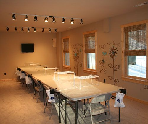 scrapbook rooms | ... 11 4 tables there are flat screen tv s in both scrapbook rooms for