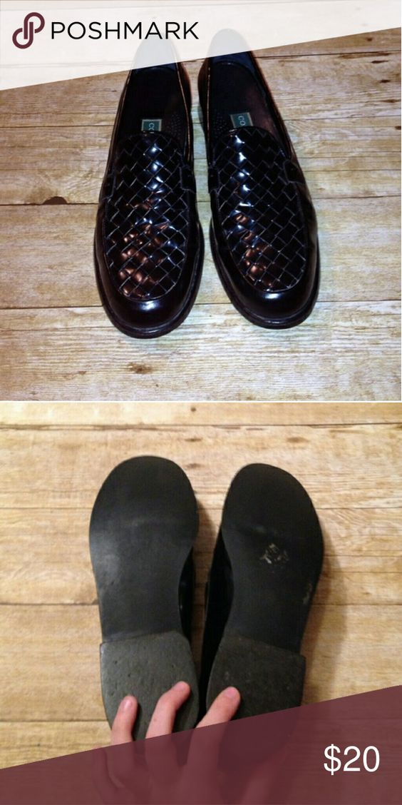 Cole Haan Loafers Black woven leathet Cole Haan Shoes Flats & Loafers