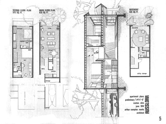 Narrow row house floor plans google search row house for Narrow row house floor plans