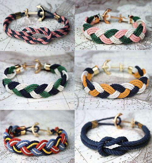 Bracelet en corde......noeud & tresse ♡