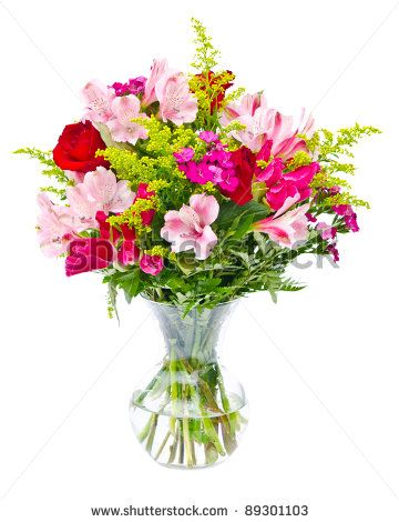Clip Art Flower Bouquet In Vase