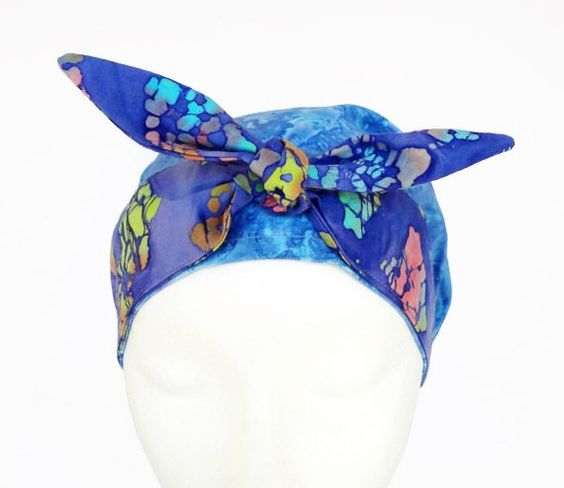 Scrub Hat with Bow Scrub Cap with Bow Retro by CroweScrubCaps