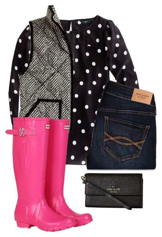 """""""Brighten your Day"""" by sc-prep-girl ❤ liked on Polyvore featuring Abercrombie & Fitch, Hunter and Kate Spade"""