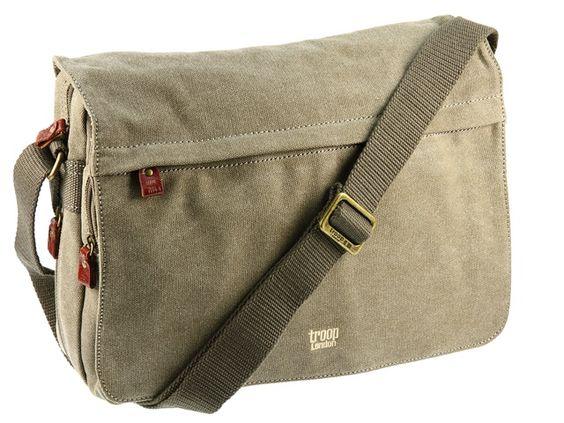 Troop London Extendable Canvas Messenger Shoulder Bag - Brown ...