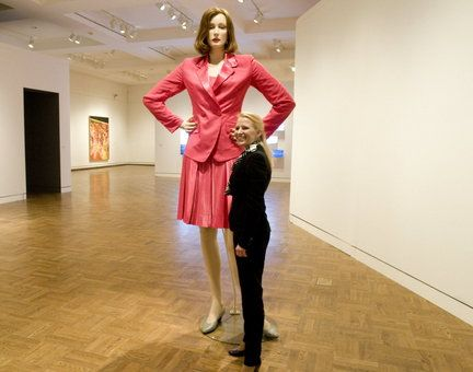 Very tall nude women