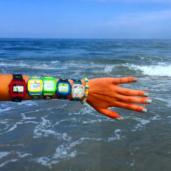 freestylewatchesThe true definition of #armcandy // Thanks to @aoneil31 for showing off her shark squad! #watchcollection #watchesofinstagram #myfreestylewatch #sharkleash #sharkclip #beachstyle