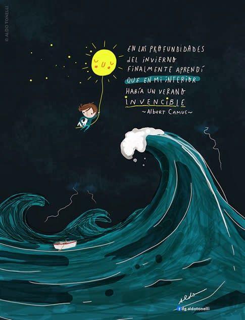 Porque los momentos difíciles nos enseñan que la verdadera calma reside en el interior.  Aldo Tonelli