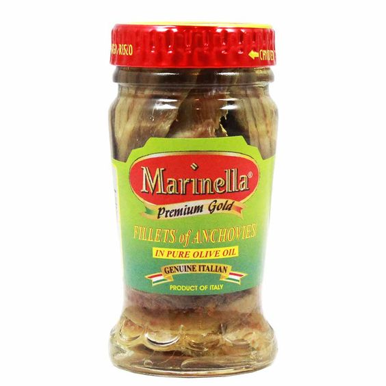 Italian Anchovy Fillets in Olive Oil by Marinella 3.2 oz