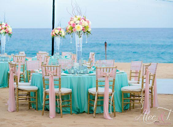2015 Scuba Blue Wedding Reception Ideas