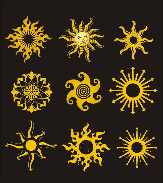 Sun, Sun Designs And Psychedelic