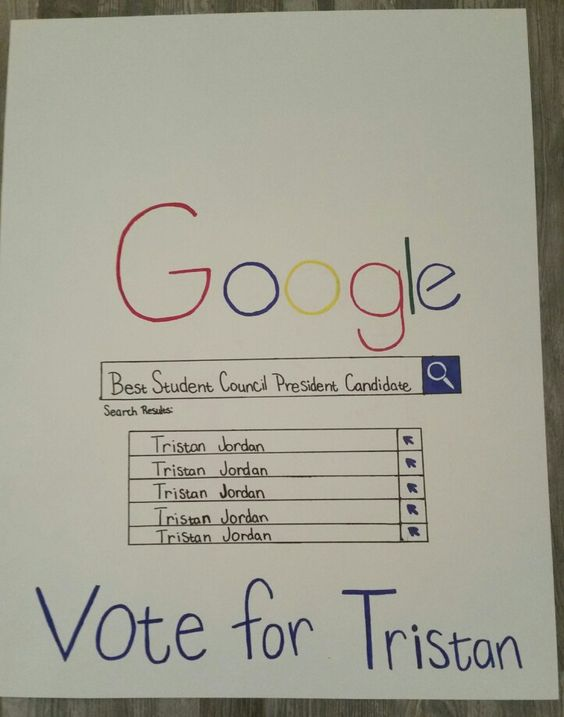 Student Council President Google Poster Idea | Random ...