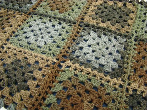 Color :: Bernat Mosaic Into The Woods #crochet #afghan # ...