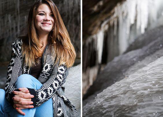 Adina inside the Ice Cave