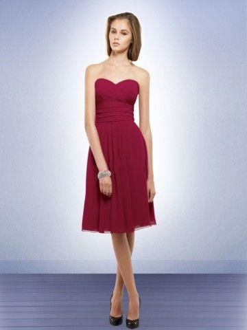 (NO.0242456 )A-line Sweetheart  Ruffles  Sleeveless Knee-length  Chiffon Bridesmaid Dress / Cocktail Dress / Homecoming Dress