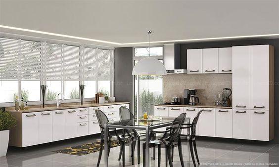 Cozinha Modulada Completa Suspensa com 11 Módulos Sense Nature/Branco - Kappesberg | Lojas KD