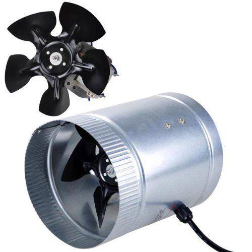 Light Weight Indoor Garden 6 260 Cfm Inline Duct Booster Vent Fan Blower Aluminum Blade Exhaust Fan Duct Exhaust Fan Air Duct