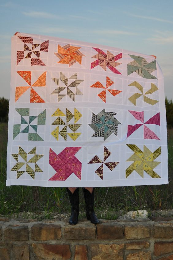 Pinwheel Quilt Patterns for Beginners | Did you have a productive Saturday too?