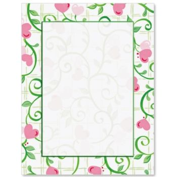 Hearts In Bloom Letter Paper