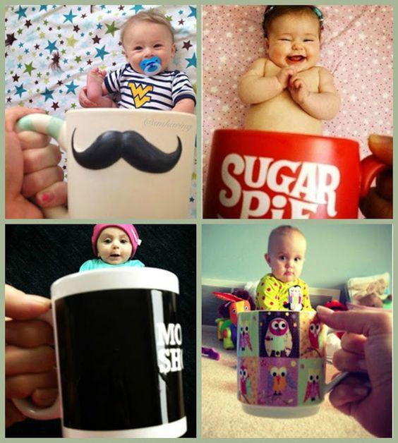 Essas fotos de bebês nas canecas ficam D+!! Faça a sua também!!