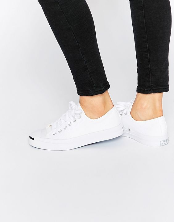 Converse | Converse Jack Purcell White Canvas Trainers at ASOS