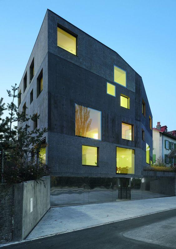 Urbane Villa in Lausanne by 2b architectes