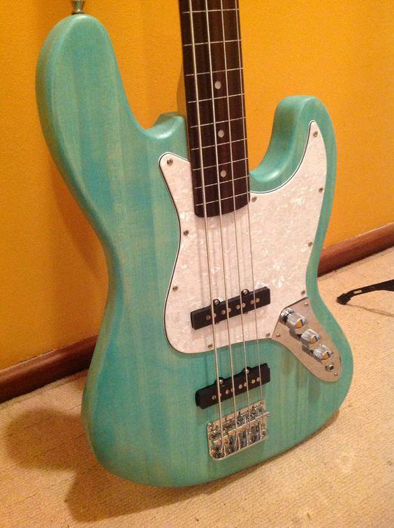 Eliot's PB-4 Bass in Wudtone Custom Guitar Finish