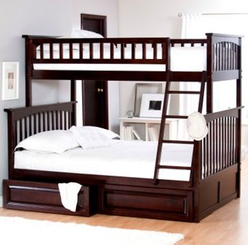 bunk beds with a double on the bottom - perfect for snuggling and story time!