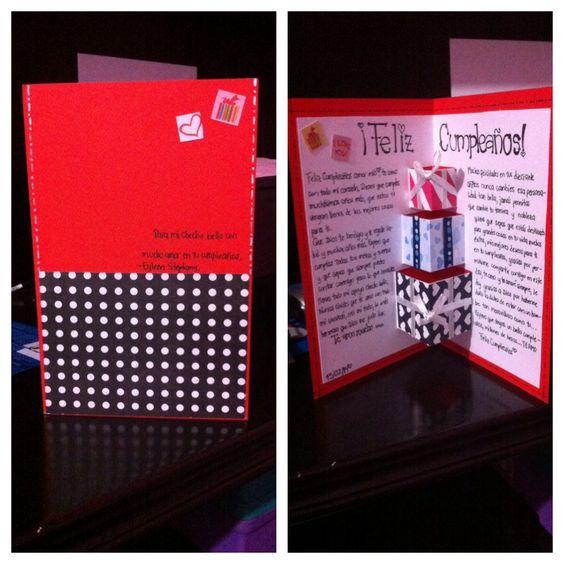 Tarjeta de cumplea os para mi novio hecha por mi misma - Que hacer para un cumpleanos ...