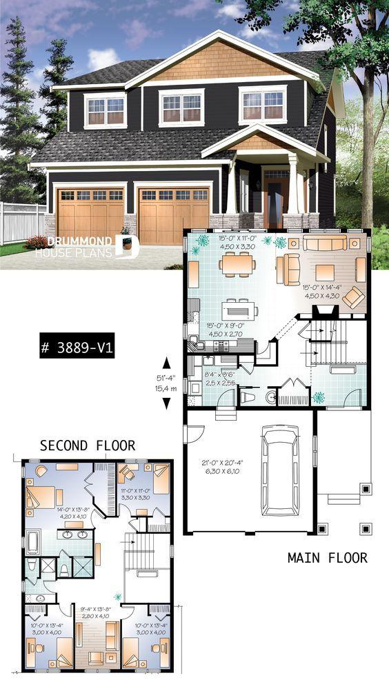 House Plan Addison 2 No 3889 V1 With Images Craftsman House Plans Sims House Plans House Blueprints