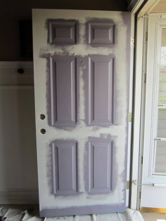 Metal doors painting tips and doors on pinterest - Painting a steel exterior door model ...