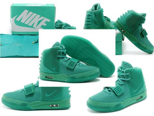 Free Shipping Only 69$ Nike air yeezy 2 Green Lantern Emerald Green