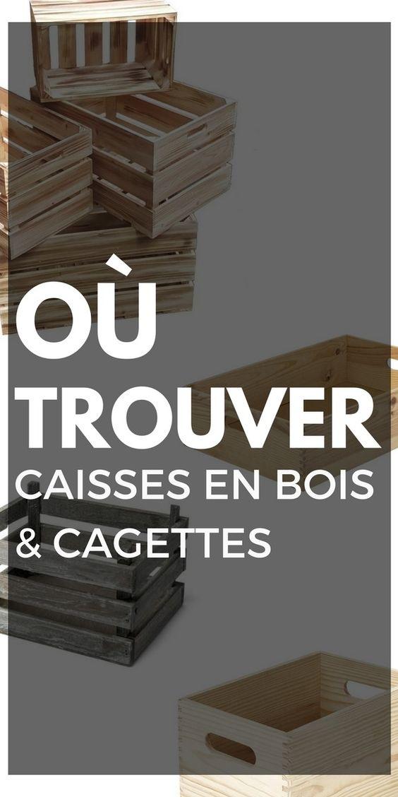 Ou Trouver Des Caisses En Bois Et Des Cagettes Deco Caisse En Bois Caisse Bois Cagette