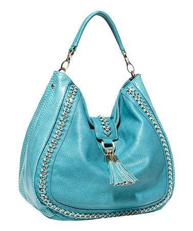 Take a look at this Blue Chain Tassel Hobo by Big Buddha on #zulily today!