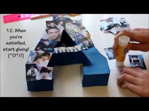 Diy Gift Idea Kpop Block Letter Vixxslight Diy Birthday Gifts Kpop Diy Diy Gift