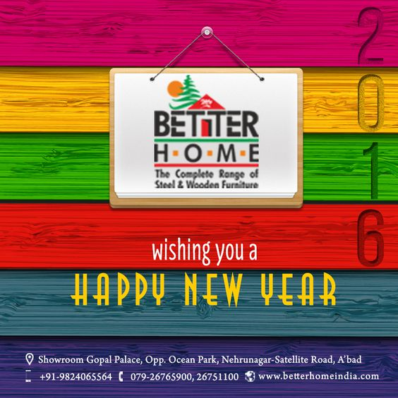 May you get succeed in the year 2016 and achieve all your goals you have set.  #wish #Happy #NewYear #BetterHome #Furniture #HomeFurniture #OfficeFurniture #wooden