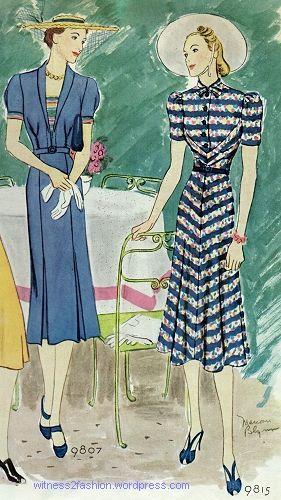 McCall's pattern 9815, July 1938.