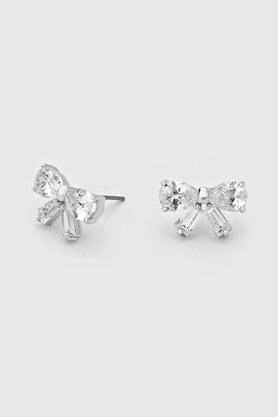 CZ Ribbon Earrings | Women's Clothes, Casual Dresses, Fashion Earrings & Accessories | Emma Stine Limited
