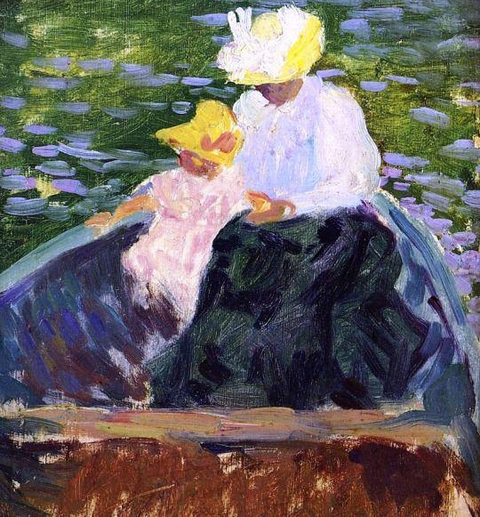 En barque - Henri Lebasque . 1897