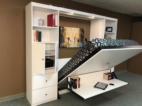 Alpine Murphy Bed With Desk Youtube Modern Murphy Beds Murphy Bed Diy Murphy Bed Ikea