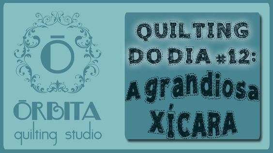 Quilting do dia # 12: A grandiosa xícara (Quilting design 12: coffee) - ...
