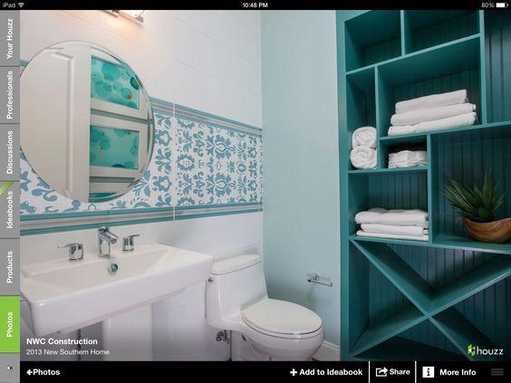 Aqua bathroom decor everything turquoise aqua for Bathroom ideas aqua