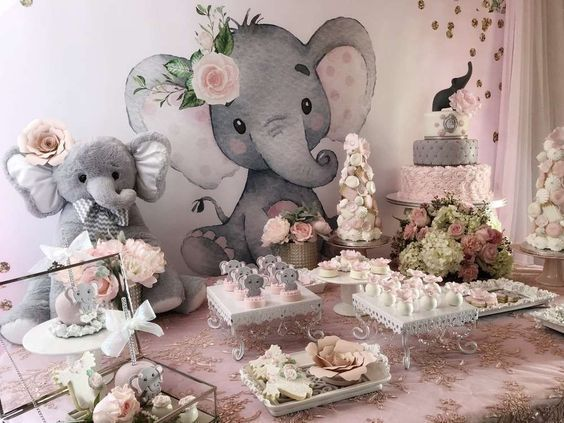 Baby Elephant Baby Shower Party Ideas | Photo 11 of 16 | Girl baby shower  decorations, Elephant baby shower decorations, Baby shower elephants girl