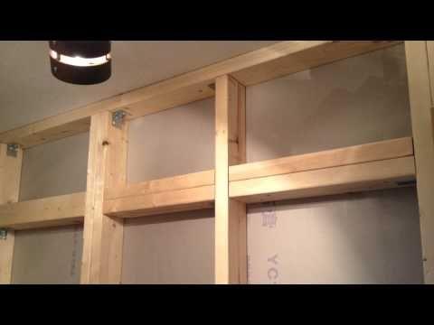 R式diy 2 4材用アジャスターで床壁天井一切キズを付けずにカッコいい
