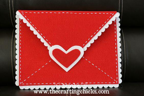 "No- sew felt Valentine chair-backer ""envelope"" for kids valentines"