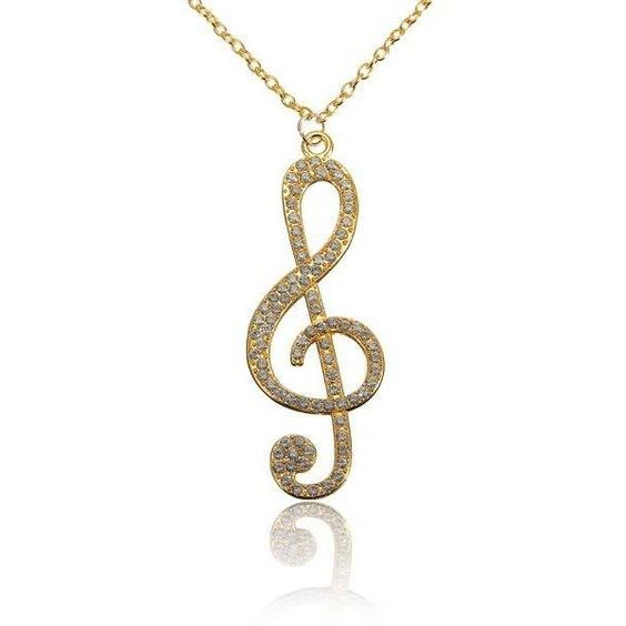 Crystal Music Note Pendant Alloy Necklace (¥310) ❤ liked on Polyvore featuring jewelry, necklaces, newchic, crystal chain necklace, crystal pendant necklace, chain necklaces, pendant chain necklace and crystal necklace