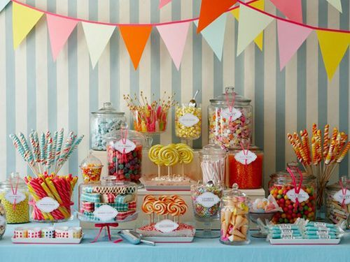 love this idea of a candy area, am thinking of doing this exact same thing at my reception since it is going to be a cocktail party verus a sit down event.