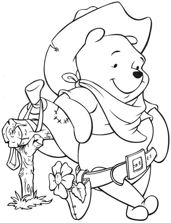 How To Draw Winnie The Pooh Coloring Sheets For Kids Xo Disney