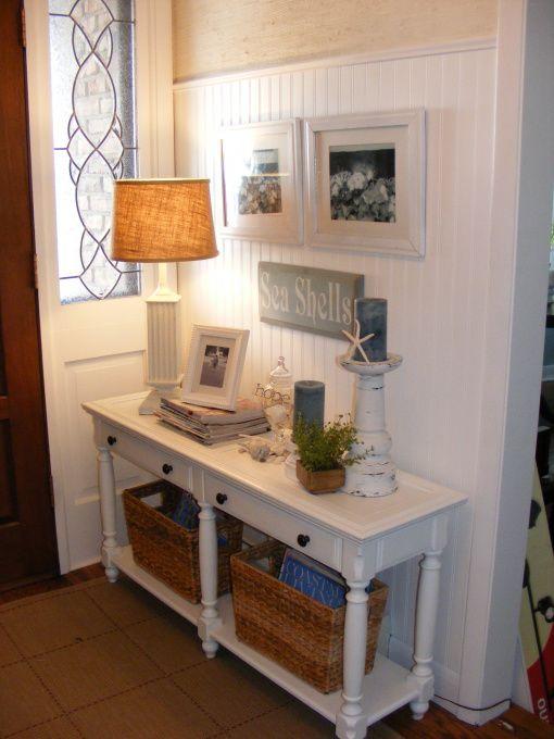 Nautical Foyer Ideas : Foyer tables sea shells and belle on pinterest