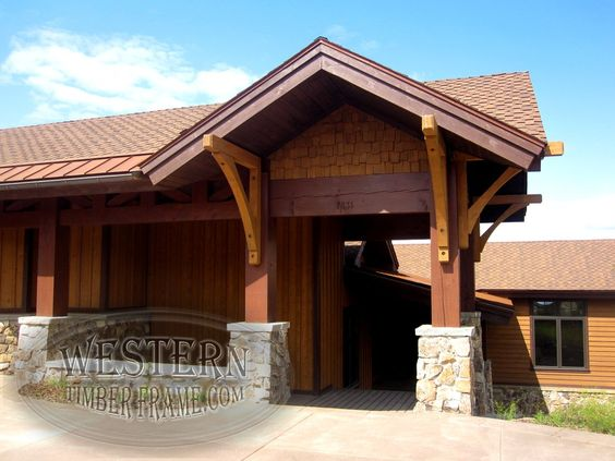 Stone Columns Wood Siding And Post And Beam On Pinterest