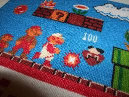 Resultado de imagen de cross stitch video game